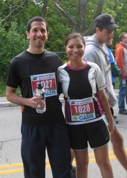 Danny Iny and wife Bhoomi Pathak marathon