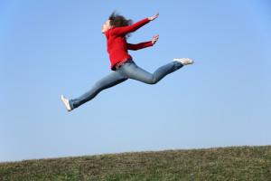 jump run girl