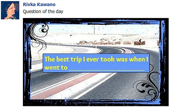 Rivka Kawano Question of the Day