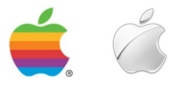 Apple Logo 1977 & 2014