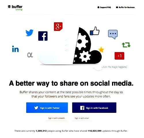 Buffer App Landing Page