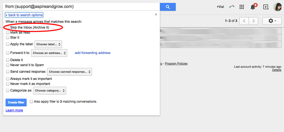 Gmail Filters #3