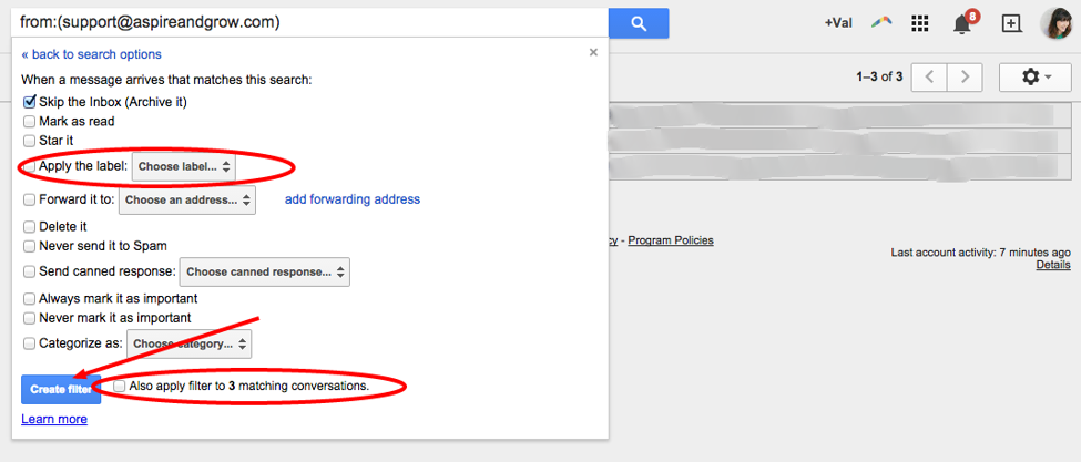 Gmail Filters #4