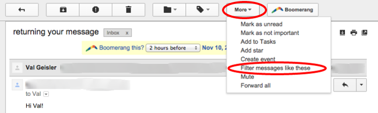 Gmail Filters #5
