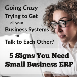 Going Crazy Tryinh to Get Your Business Systems to Talk to Each Other? 5 Signs you Need Small Business ERP