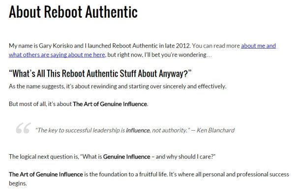 Reboot Authentic