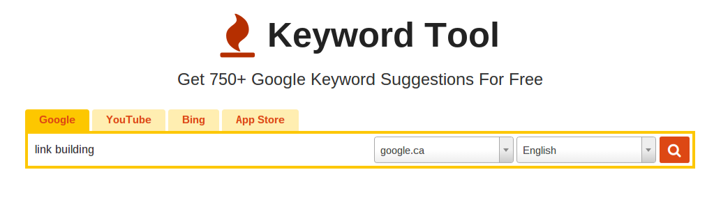 keyword tool search bar