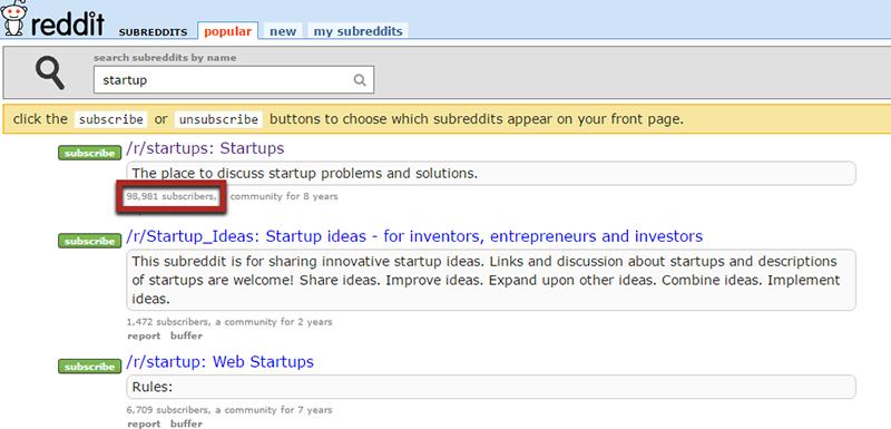 reddit startup