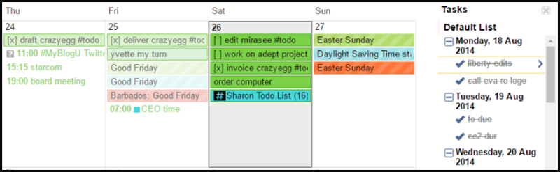 google calendar productivity workflow