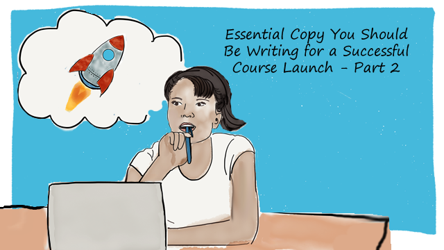 course launch copywriting with audience a
