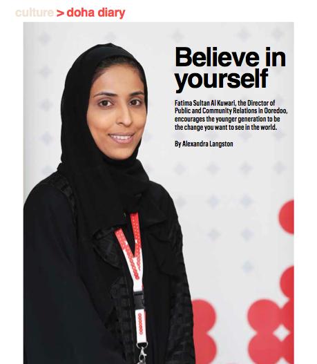 Picture of Fatima Sultan Al Kuwari wearing black jacket and hijab