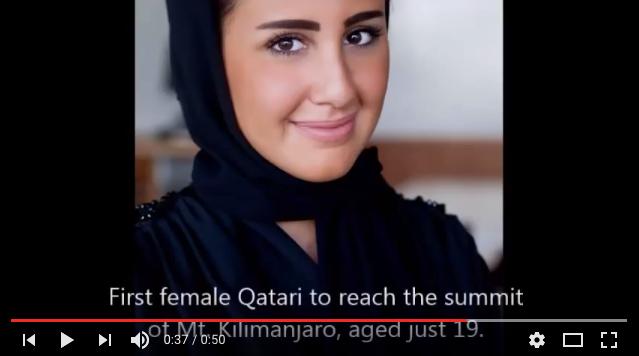 Dana Al-Anzy, the first Qatari woman to summit Mt. Kilimanjaro