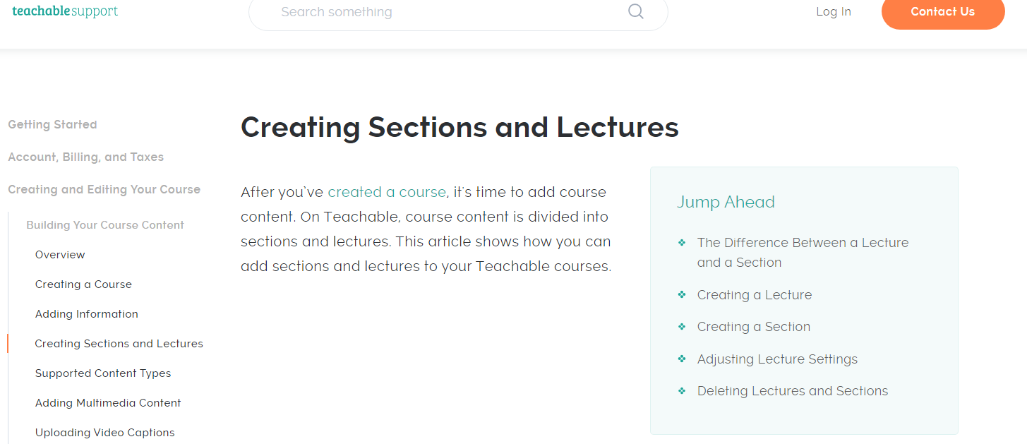 Specifications Course Creation Software