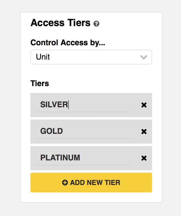 Zippy Courses Access tiers