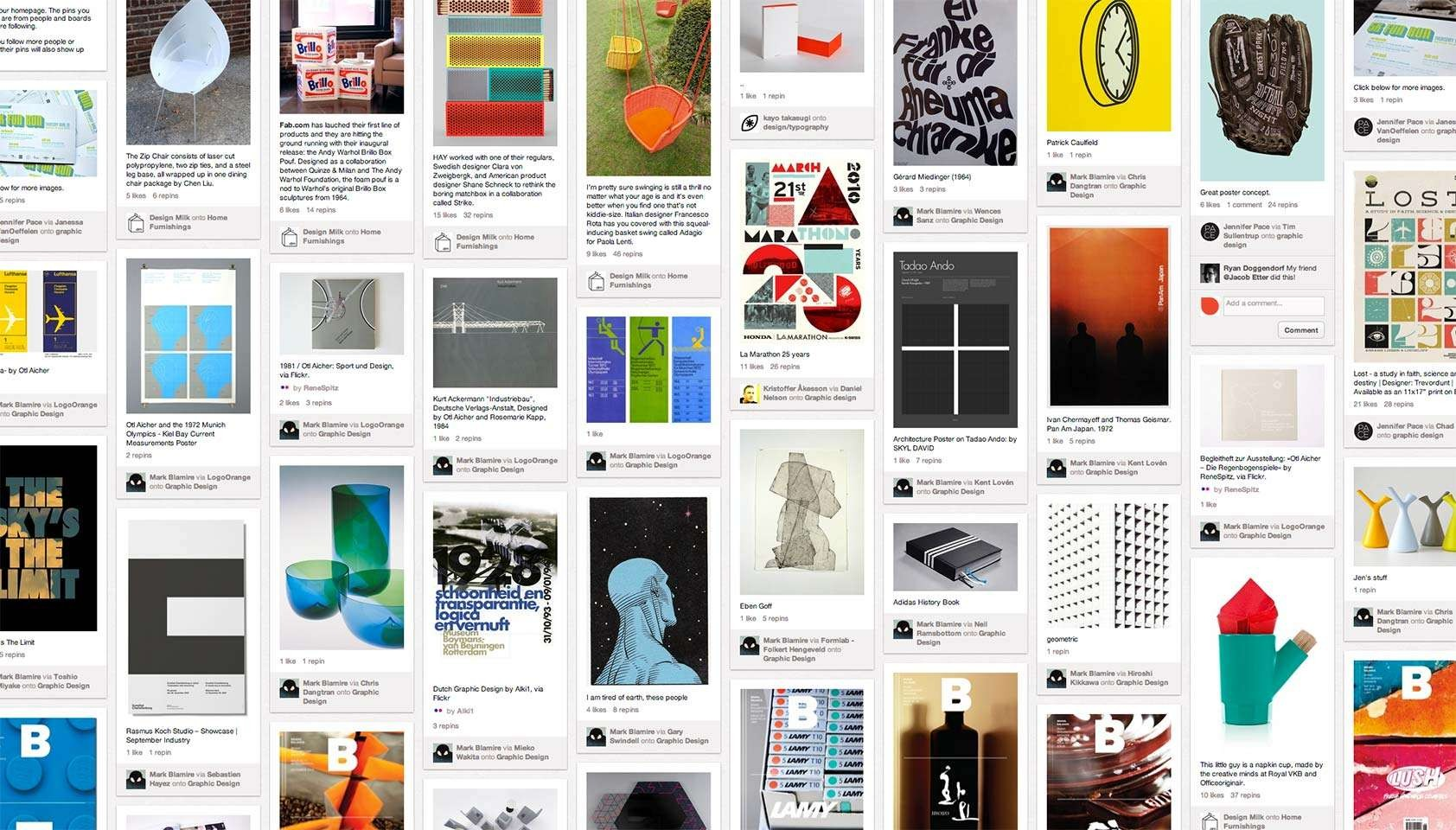 Image of colorful Pinterest board