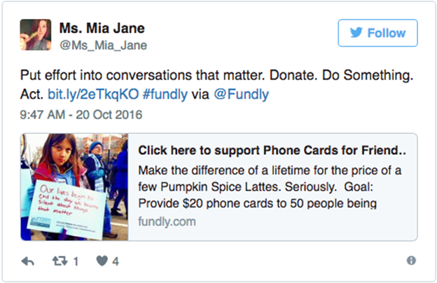 Phone Cards for Friends Twitter campaign