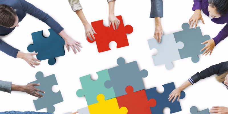Online Business Experiment Puzzle Pieces