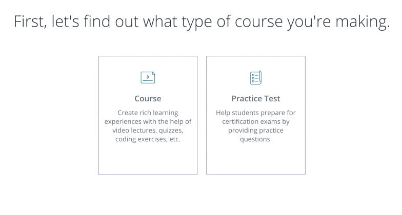 udemy type of course
