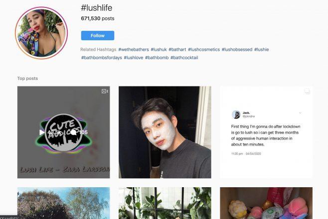 Lush Instagram campaign