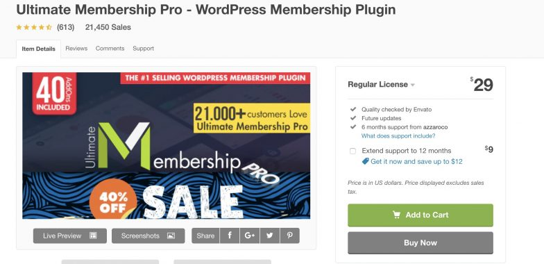 Ultimate Membership Pro plugin