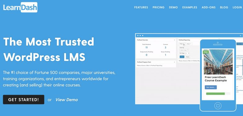 Screenshot of LearnDash platform