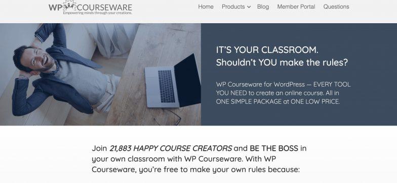 Screenshot of WPCourseware platform