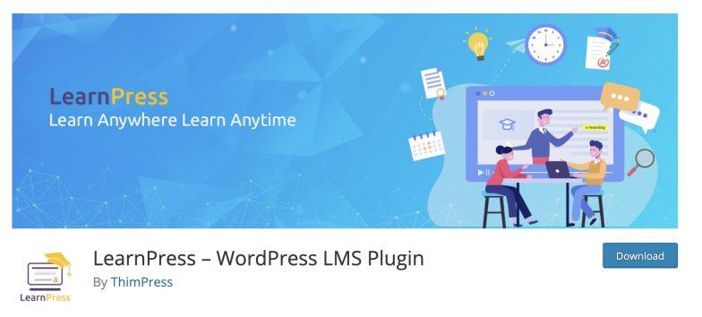 Screenshot of LearnPress plugin