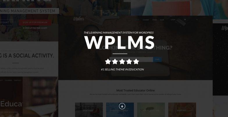 Screenshot of WPLMS theme