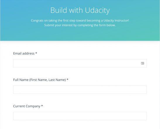 Udacity builder