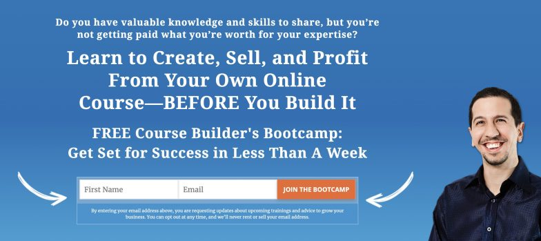 Course Builders Bootcamp landing page