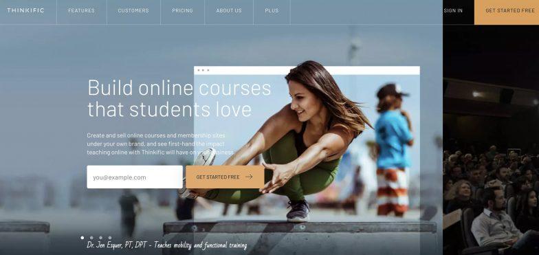 Thinkific homepage